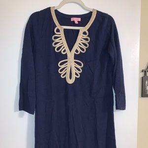 Navy Blue Lilly Pulitzer 3/4 Sleeve dress